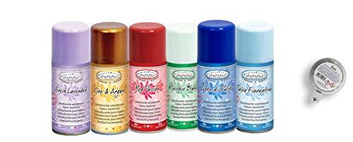 HygienFresh 6 Profumo Deodorante Tessuti Abiti Tende DIVANI Speciale LAVANDERIE igiensoft Idea Regalo Natale 150 ml Omaggio Capsula Rampi per Cassetti