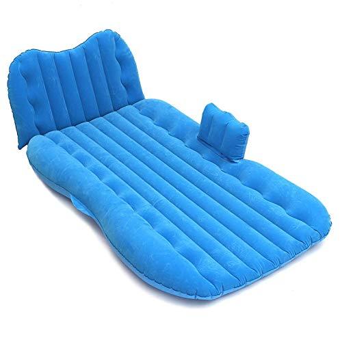 OUY Cama De Aire Colchón De Cama Inflable Interior para Acampar Al Aire Libre Viajes Asiento Trasero De Coche Camas De Aire Inflado Rápido Y Fácil (Size:One Size; Color:Blue)