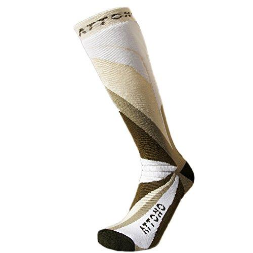 4 paar warme skisokken ATTONO® Ski snowboard sokken kousen dames heren kinderen (maten 32-47)