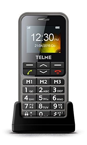 Emporia TelMe C151 Großtastenhandy (4.6 cm (1.8 Zoll) TFT Display, Notruf-Funktion, Bluetooth 3.0, HSP, FM Radio) spacegrau