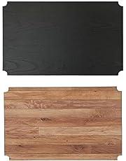 アイリスオーヤマ ラック メタルラック パーツ リバーシブル ウッドボード ブラック 幅53.5×奥行33.5×厚さ5cm スチールラック 木目調 おしゃれ シート CMBT-55