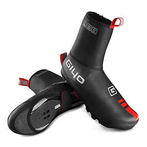 Hamkaw - Copri-scarpe da ciclismo, invernali, impermeabili, anti-vento, altamente riflettenti, per mountain bike e biciclette da strada, per sport all'aria aperta, 10.2in-10.6in