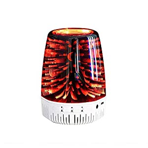 TTAototech Bluetooth Speaker, 3D Glass Night Light Bedside Table Lamp 7 Color Led Portable Wireless Speakers Rechargeable Table Lamp Best Gift For Kids