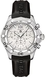 TAG Heuer Men's CAF101F.FT8011 Aquaracer Rubber Band White Dial Watch