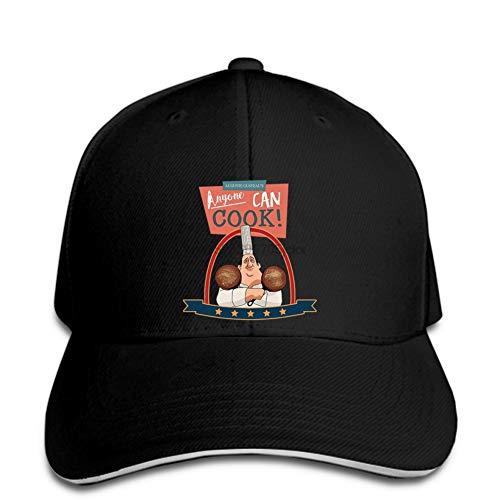OEWFM Baseballkappe schwarz Bedruckte Krempe Mezzanine Jeder kann Kochen inspiriert Unisex Baseball Cap Männer Baseball Cap Snapback Hut Peaked Klassisches BB Hut Sportkappe Sonnenhut Geschenk