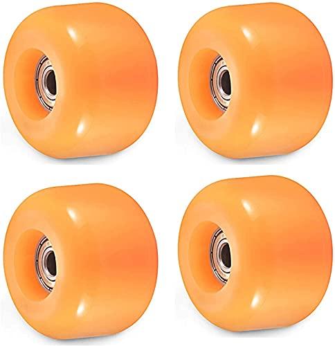 JQAM Ruedas de patineta de 4 Piezas, Ruedas de patín de Cuatro Ruedas con rodamientos ABEC 9 para Calle, Parque 54x36 mm 90A (Color : Orange)