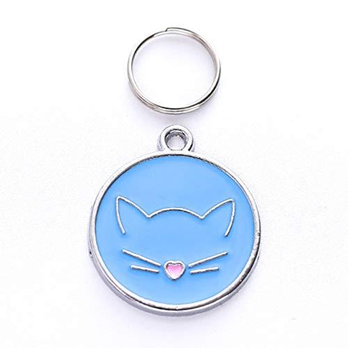 Accesorios personalizados para mascotas Linda cara de gato Aleación de zinc Etiqueta de...
