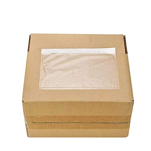 BESTEASY Packing List Pouches, Clear Adhesive Top Loading Packing List/Shipping Label Envelopes - 100 Packs (7.5 x 5.5)