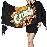 Jupsero Orange Crush Fashion Long Chal Invierno Cálido Celosía Bufanda grande Manta de abrigo