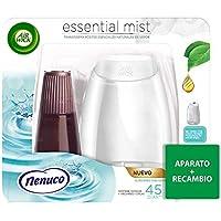 Air Wick Essential Mist - Aparato y recambio de ambientador difusor, esencia para casa con aroma a nenuco - pack de 1 aparato y 1 recambio
