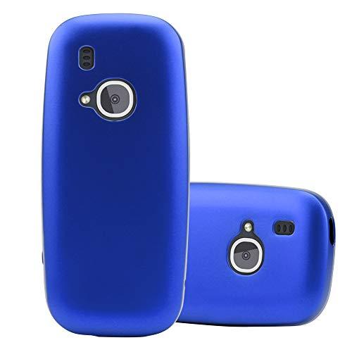 Cadorabo Hülle für Nokia 3310 in METALLIC BLAU - Handyhülle aus flexiblem TPU Silikon - Silikonhülle Schutzhülle Ultra Slim Soft Back Cover Hülle Bumper