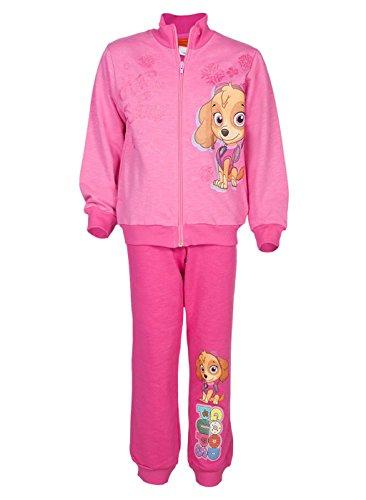 Mädchen Paw Patrol Sport-Anzug zweiteilig, Baumwolle, Sweat-Jacke mit Langer Hose, GRÖSSE 92, 98, 104, 110, 116, 122, Jogging-Anzug Helfer auf Vier Pfoten, Freizeit-Anzug Rosa Größe 1