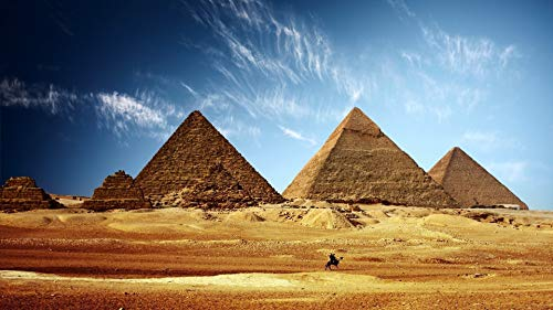 Rahmenlose Malen Nach Zahlen Für Erwachsene Kinder Ägypten Pyramide Sand Himmel DIY Digitale Malen Nach Zahlen Kits Auf Leinwand 40X50CM