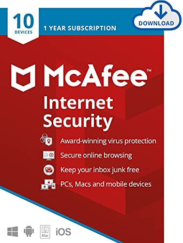 McAfee Internet Security 2021 | 10 Devices | 1 Year |...