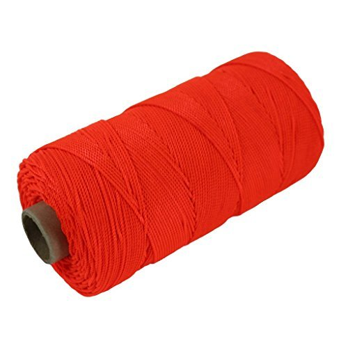 SGT KNOTS Twisted Nylon Mason Line #18 - Twine String for DIY Project, Crafting (550 feet - Fluorescent Orange)