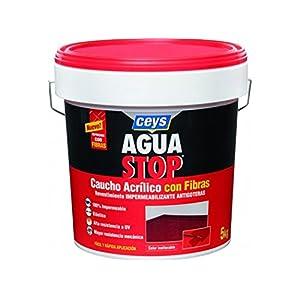 Aguastop ceys M122187 – Impermeabilizante aquastop caucho acrilico con fibras 5 kg terracota