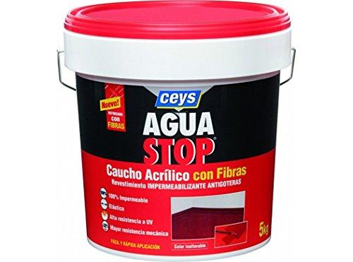 Aguastop ceys M122187 - Impermeabilizante aquastop caucho acrilico con fibras 5 kg terracota