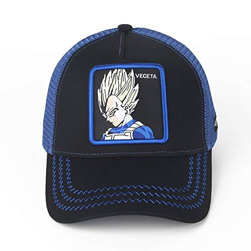 sdssup Hut Zeichentrickfigur Kappe Baseballmütze Netzhut Vegeta schwarz einstellbar