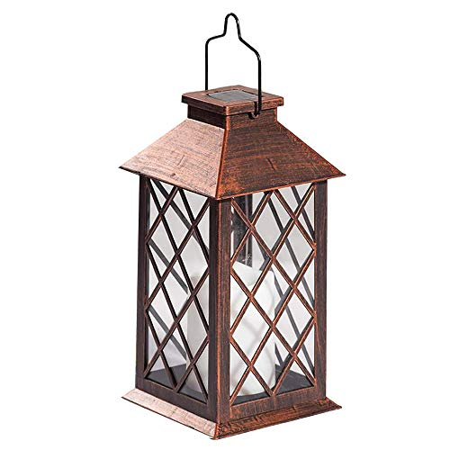 Heritan Solar Lantern,Outdoor Garden Hanging Lantern LED Flickering Flameless Candle Lights for Table,Outdoor,Party Decorative