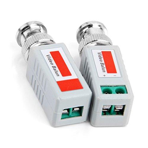 Homyl 2 Unids Video Baluns CCTV Cámara De Seguridad UTP Cat 5 Transceptor Male BNC Plug