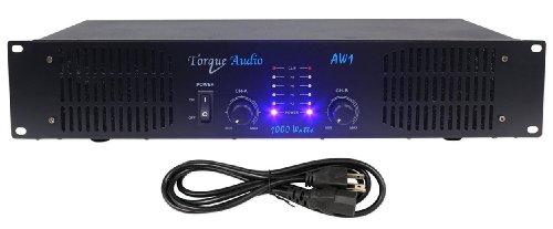 Technical Pro Torque Audio AW1 1000 Watt 2-Channel DJ Power Amplifier/Amp