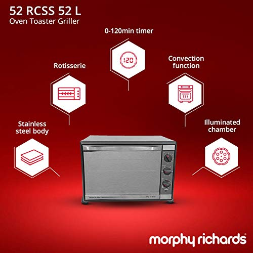 Morphy Richards 52 RCSS 52-Litre Oven Toaster Grill (Black)