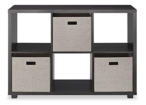Whitmor, Espresso Deluxe 6 Organizer with 3 Fabric Cubes