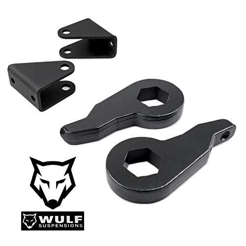 WULF 3' Adj Front Leveling Lift Kit compatible with 2001-2010 Chevy Silverado GMC Sierra 2500 2500HD 3500 3500HD 2WD 4X4