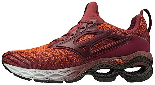 Mizuno Men's Creation WAVEKNIT 2 Running Shoe, Tang Tango-Tawny Port, 9.5