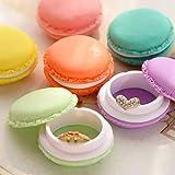 Mini Coloré Macaron Boîte De Rangement Organisateur Écouteurs Intra-auriculaires Portables Case Organisateurs Bijoux
