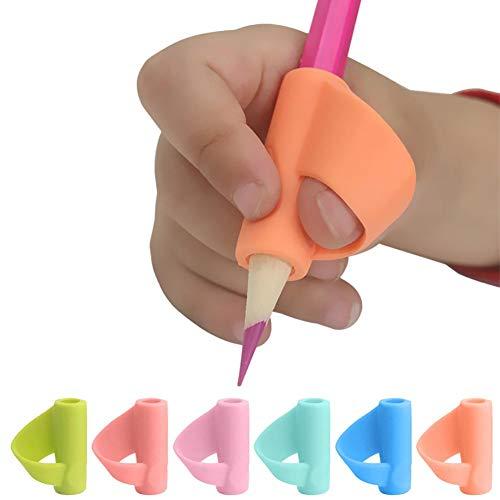 Empuñadura de lápiz 3PCS / Set Children Pencil Holder Silicone Pen Grippers Lápiz de Ayuda de Escritura Agarre Postura Herramienta de corrección para niños Estudiantes Niños en Edad Preescolar