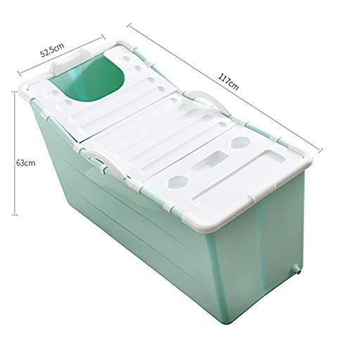 LLDKA Badkuip Opvouwbare badkuip vrijstaande hoek bad emmer voor volwassenen