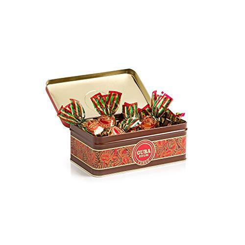 Confezione Regalo Cuba Rhum, 200g - Cioccolato Fondente con Ripieno al Cioccolato e Rum - Senza Glutine