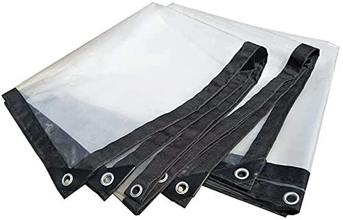 GAXQFEI Lona Transparente Impermeable Resistente Que Cubre la Lluvia Película de Tela Plástica Aislamiento Antienvejecimiento Pe, Espesor 0.13Mm, Tamaño 16, Personalizable Blanco Gris,3 * 8M