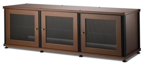Salamander Synergy 237 A/V Cabinet with Three Doors -Cherry/Black