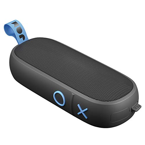 JAM Hang Around, Pairable Waterproof Bluetooth Speaker 100 ft. Range, 20 Hour Playtime, Dust-Proof, Drop-Proof IP67 Rating Built-in Speakerphone, Aux-In Port, USB Charging Black HX-P505BK