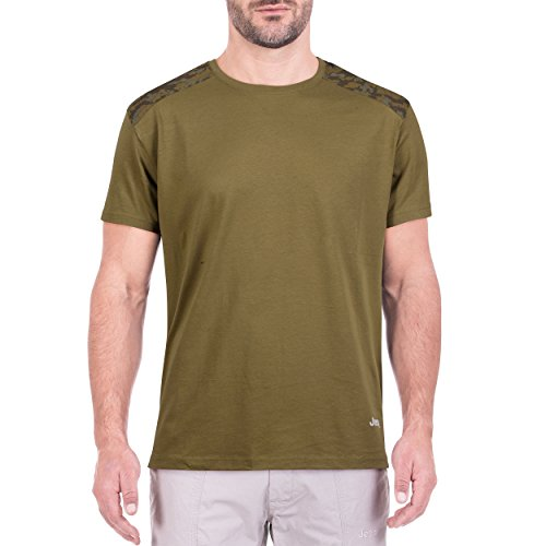 Jeep Shoulders J8S T-Shirt pour Homme, Avocat, Vert camoucork, S