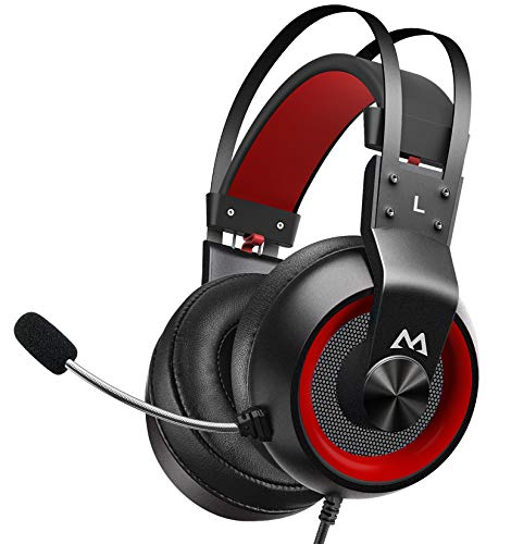 Mpow EG3 Pro Gaming Headset - Stereo Surround Sound Xbox Gaming Headset with Noise Cancelling Mic & In-Line Control, Over-Ear Gaming Headphones with LED Light, Compatible with PC/PS4/PS5/Xbox/Switch