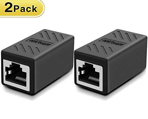 2 stück RJ45 Netzwerkkabel Verbinder Ethernet LAN Kupplung Modular Adapter für...