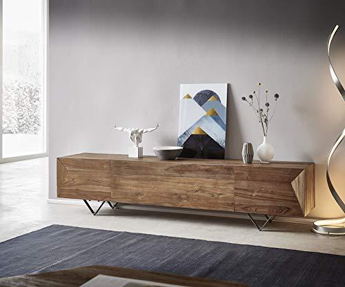 DELIFE TV-Board Wyatt Natur 200x40x46 cm Teak Lowboard