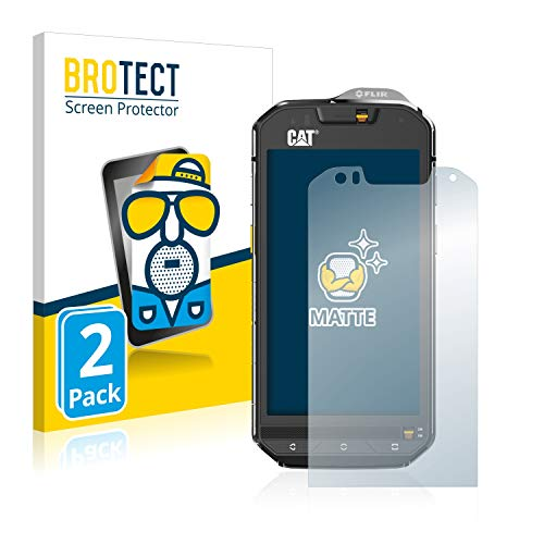 BROTECT Protector Pantalla Anti-Reflejos Compatible con Caterpillar Cat S60 (2 Unidades) Pelicula Mate Anti-Huellas