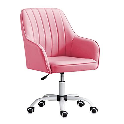 SACKDERTY Bürodrehstuhl Ergonomischer Konferenzstuhl, Verstellbarer Arbeitshocker aus PU-Leder, Komfortables Latex-Sitzkissen, 360° geräuscharme Räder