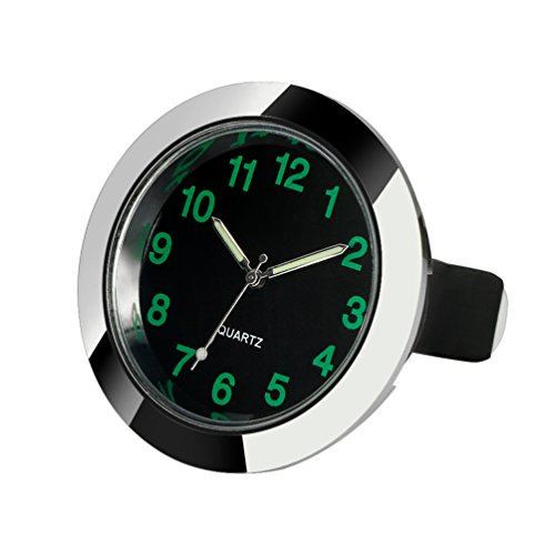 CARGOOL Car Dashboard Clock Mini Vehicle Clock Air Vent Clock, Perfect Decoration for Cars, SUV and MPV, Silver