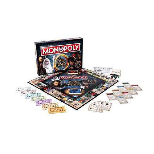 Winning Moves Señor de los Anillos Monopolio Juego de Tablero ...