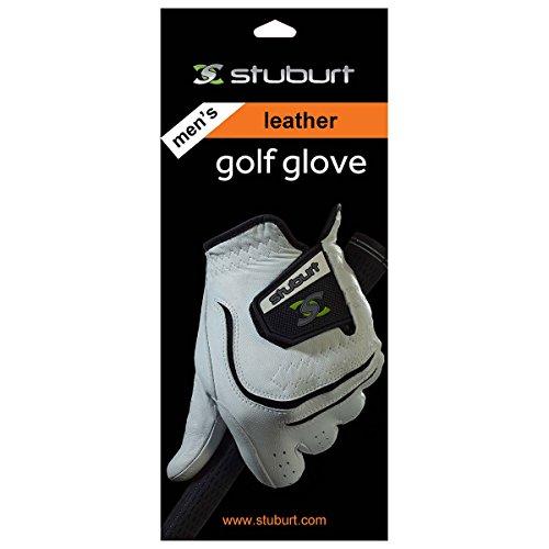 Stuburt STGLV10, Guanto da Golf. Uomo, White/Black, Large - Mano sinistra