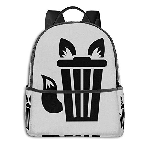 Hdadwy Furry Trash Icon Backpack Unisex School Daily Backpack Lightweight Casual Travel Outdoor Camping Daypack