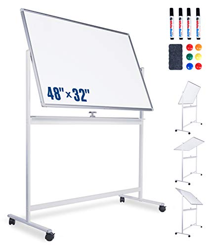 Mobile Whiteboard-Dry Erase Board with Stand 48