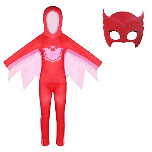 Disfraz de Catboy PJ Connor   Gekko   Owlette Disfraces de Cosplay con mscara para nias, nios pequeos, Mono de Halloween