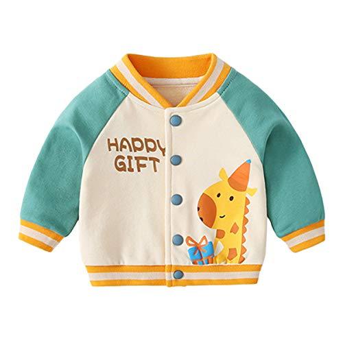famuka chaqueta de bebé niño niña chaqueta de transición primavera verano ropa de bebé (Verde, 12-18 meses)