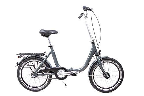 20 Zoll Alu Klapp Fahrrad Faltrad Folding Bike Shimano 3 Gang Nabendynamo grau